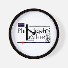 philadelphia leather Wall Clock