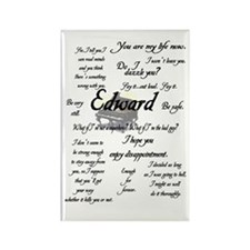 Edward Quotes Rectangle Magnet