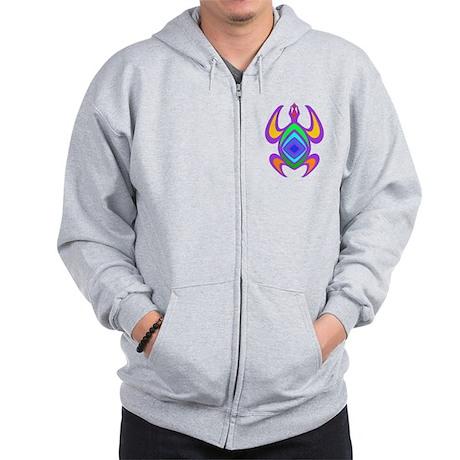 Turtle Symmetry Color Zip Hoodie