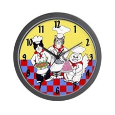 CHEF CATS WALL CLOCK