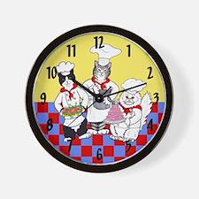 CHEF CATS WALL CLOCK