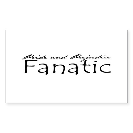 Pride & Prejudice Fanatic Rectangle Sticker