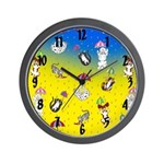 Raining Cats and Dogs Wall Clock