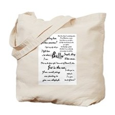 Bella Quotes Tote Bag