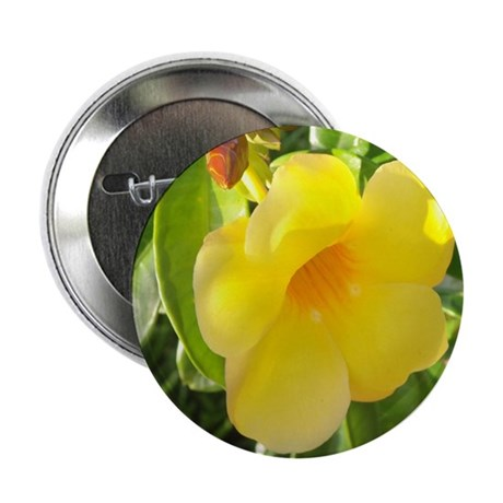 "Yellow Mandevilla 2.25"" Button"