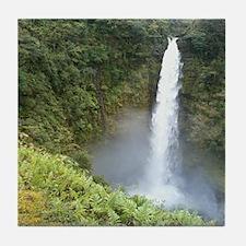 Hawaii Akaka Nation Waterfall Tile Coaster