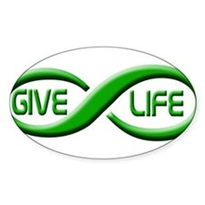 Give Life Oval Decal