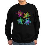 Multi Painted Turtles Sweatshirt (dark)