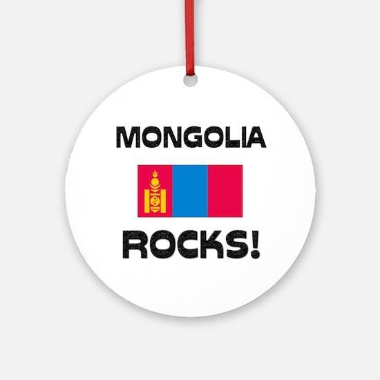 Mongolia Rocks! Ornament (Round)