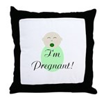 I'm Pregnant! Surprise Pregnancy Throw Pillow