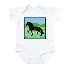 Cute Fresian horse Infant Bodysuit