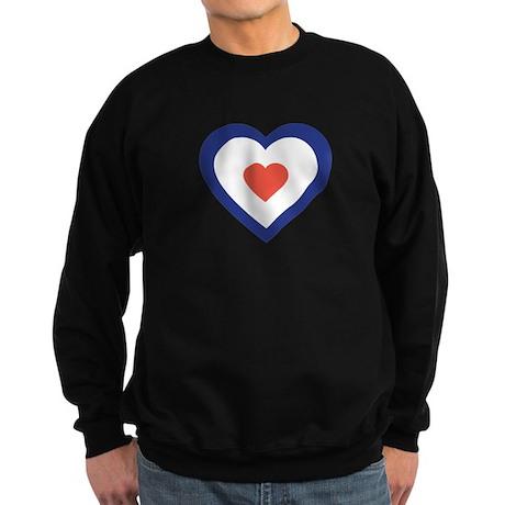 Mod Target Heart Sweatshirt (dark)