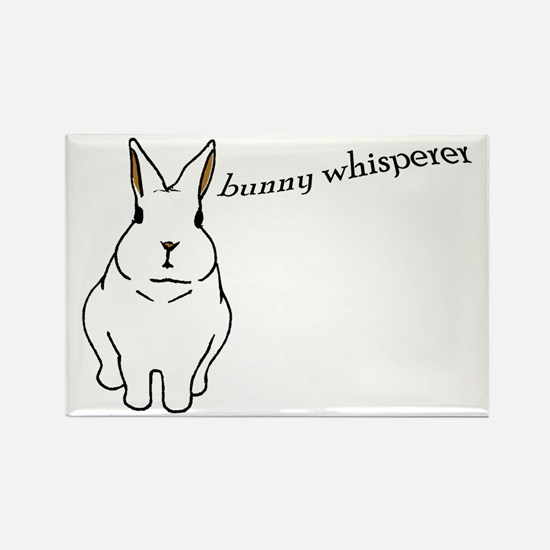 bunny whisperer Rectangle Magnet