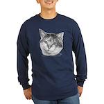 Calico Cat Long Sleeve Dark T-Shirt