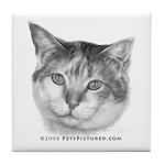 Calico Cat Tile Coaster