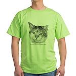 Calico Cat Green T-Shirt