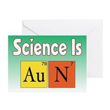 Science is Gold=N II Greeting Cards (Pk of 10)