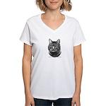 Tiger Cat Women's V-Neck T-Shirt