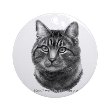 Tiger Cat Ornament (Round)