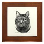 Tiger Cat Framed Tile