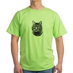 Tiger Cat Green T-Shirt