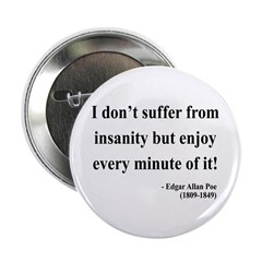"Edgar Allan Poe 17 2.25"" Button (10 pack)"