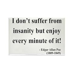 Edgar Allan Poe 17 Rectangle Magnet (10 pack)