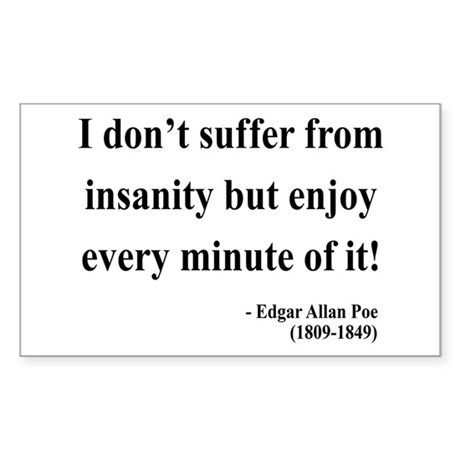 Edgar Allan Poe 17 Rectangle Sticker