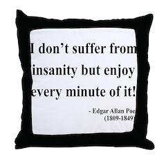 Edgar Allan Poe 17 Throw Pillow