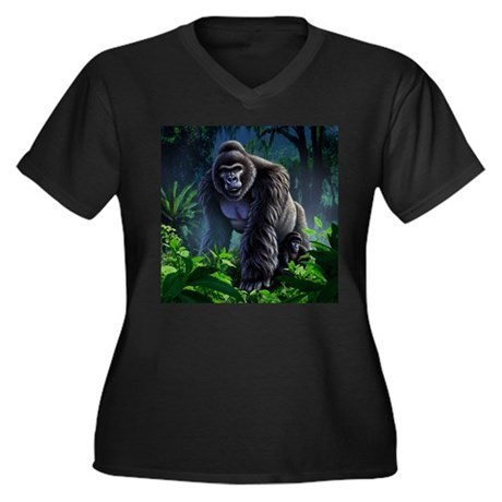 Guardian 1 Women's Plus Size V-Neck Dark T-Shirt