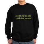 Show Me Your Tan Lines Sweatshirt (dark)