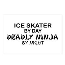 Ice Skater Deadly Ninja by Night Postcards (Packag