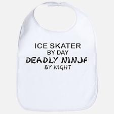 Ice Skater Deadly Ninja by Night Bib