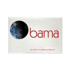 Obama Earth Rectangle Magnet