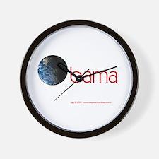 Obama Earth Wall Clock