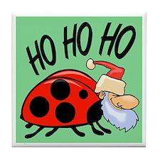 Ladybug Santa Tile Coaster