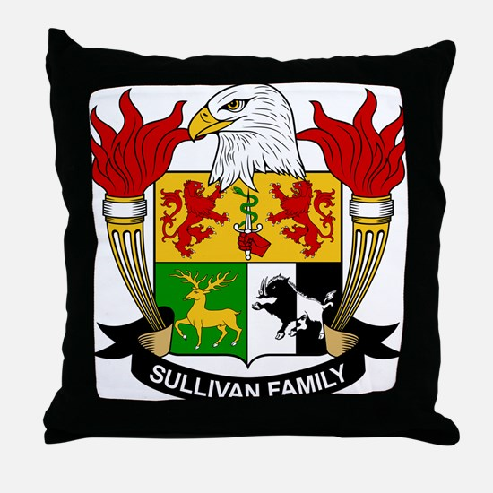 Sullivan Family Crest Throw Pillow