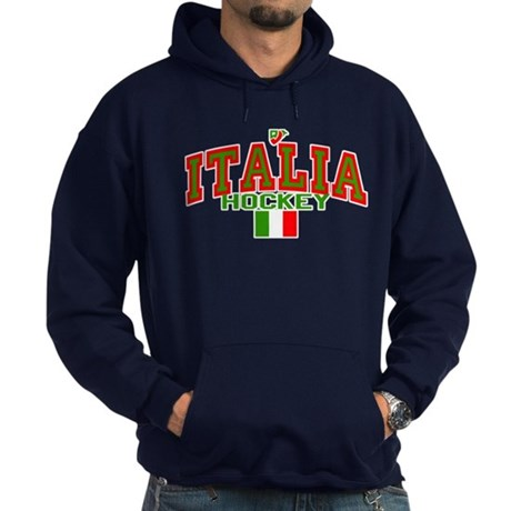 IT Italy Italia Hockey Hoodie (dark)