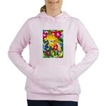 Hummingbird in Tropical Flower Garden Print Sweats