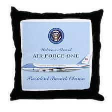 Obama Air Force One (fake) Throw Pillow