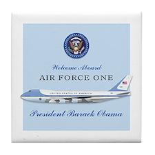 Obama Air Force One (fake) Tile Coaster