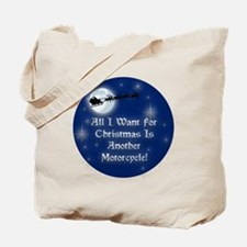 Another Motorcyle Christmas Tote Bag