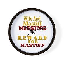 Wife & Mastiff Missing Wall Clock