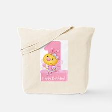 Cute Bug Girl's 1st Birthday Tote Bag