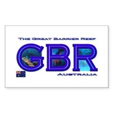 Dive The Great Barrier Reef Rectangle Decal