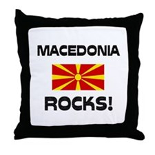 Macedonia Rocks! Throw Pillow