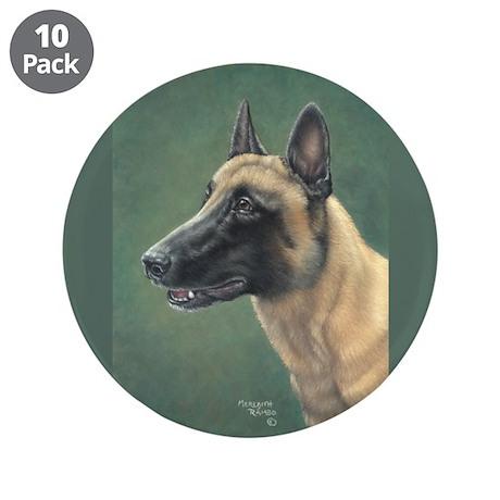"Belgian Malinois 3.5"" Button (10 pack)"