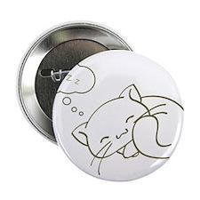 "Sleeping Kitty Shirt Cute Kit 2.25"" Button"