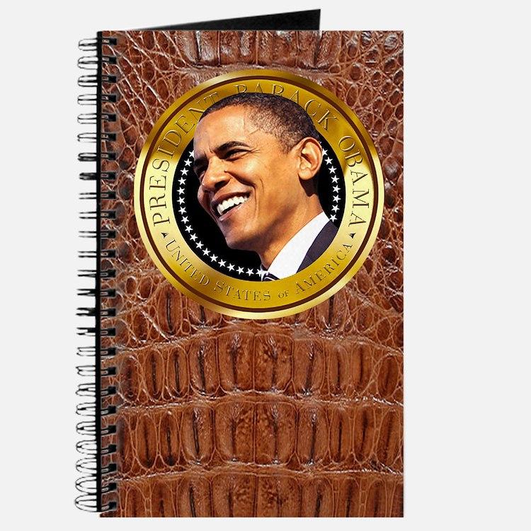 Obama Gold Seal Journal (chestnut alligator)