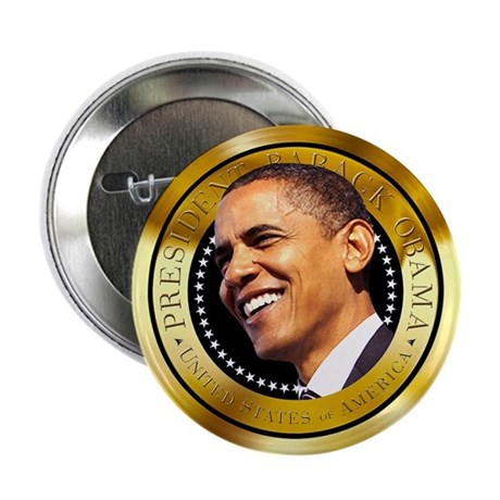 """Obama Gold Seal 2.25"""" Button (10 pack)"""
